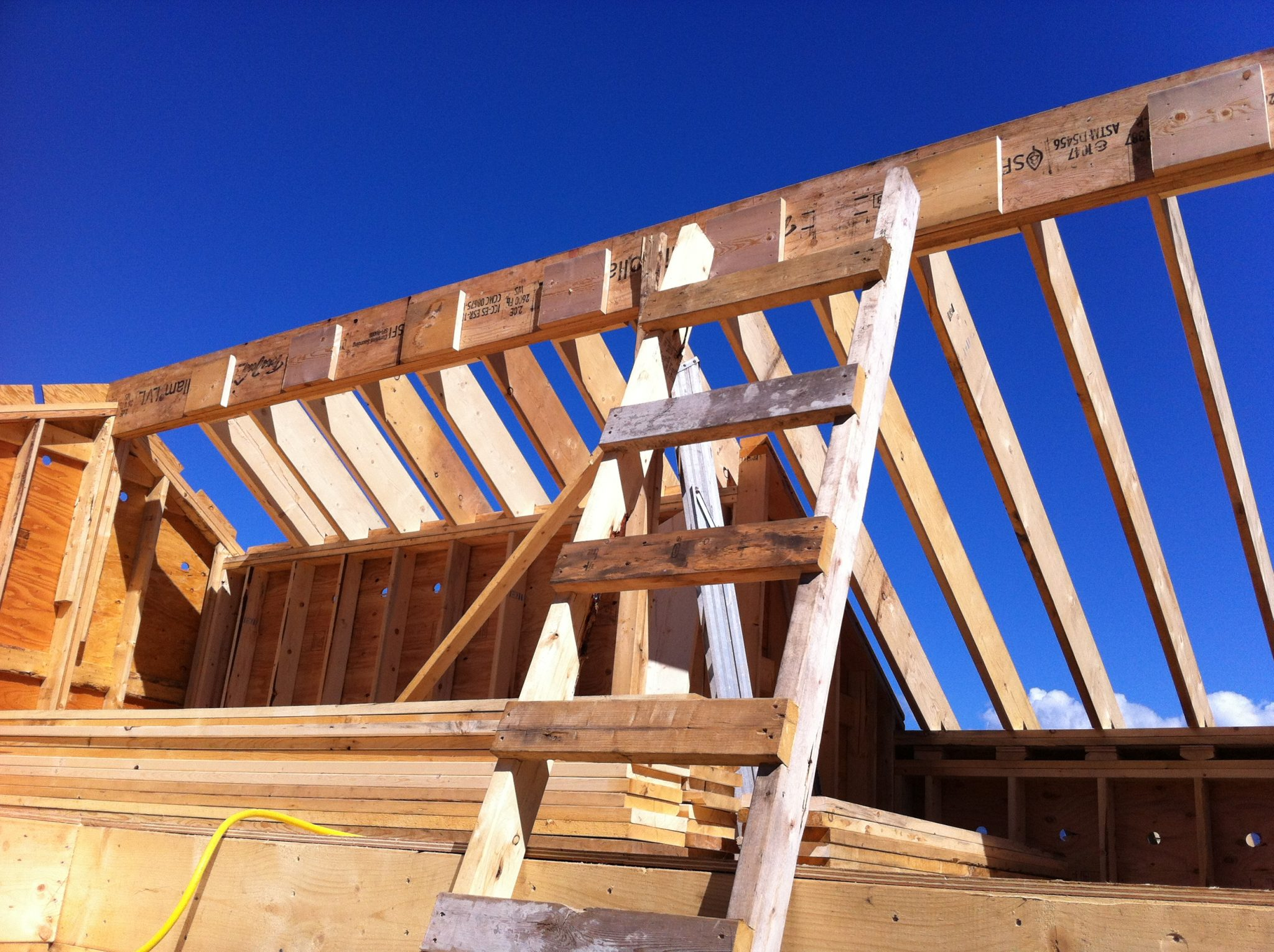 Construction Renovation roof framing Vancouver