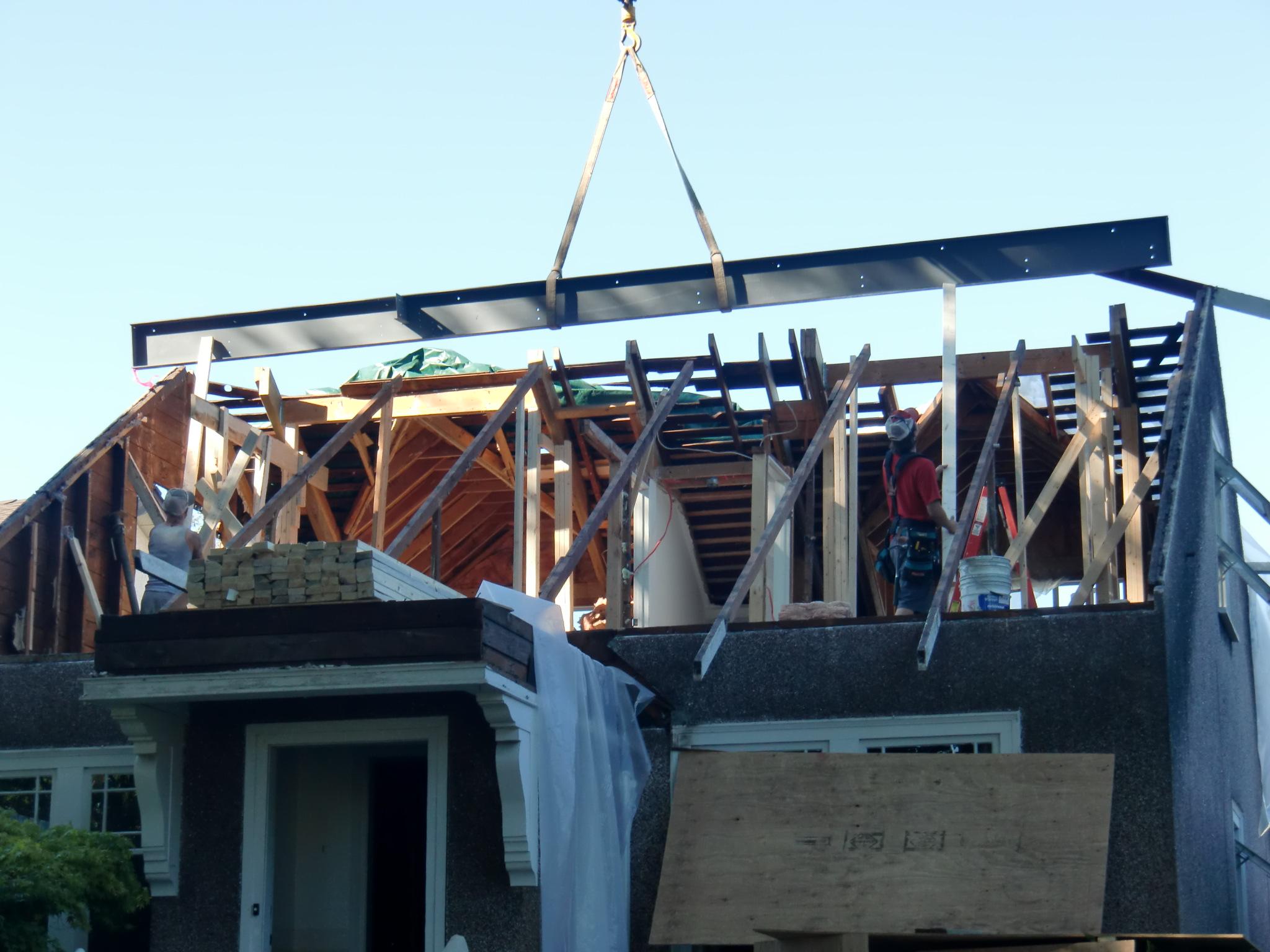 Construction Renovation Steel beam Alma Vancouver
