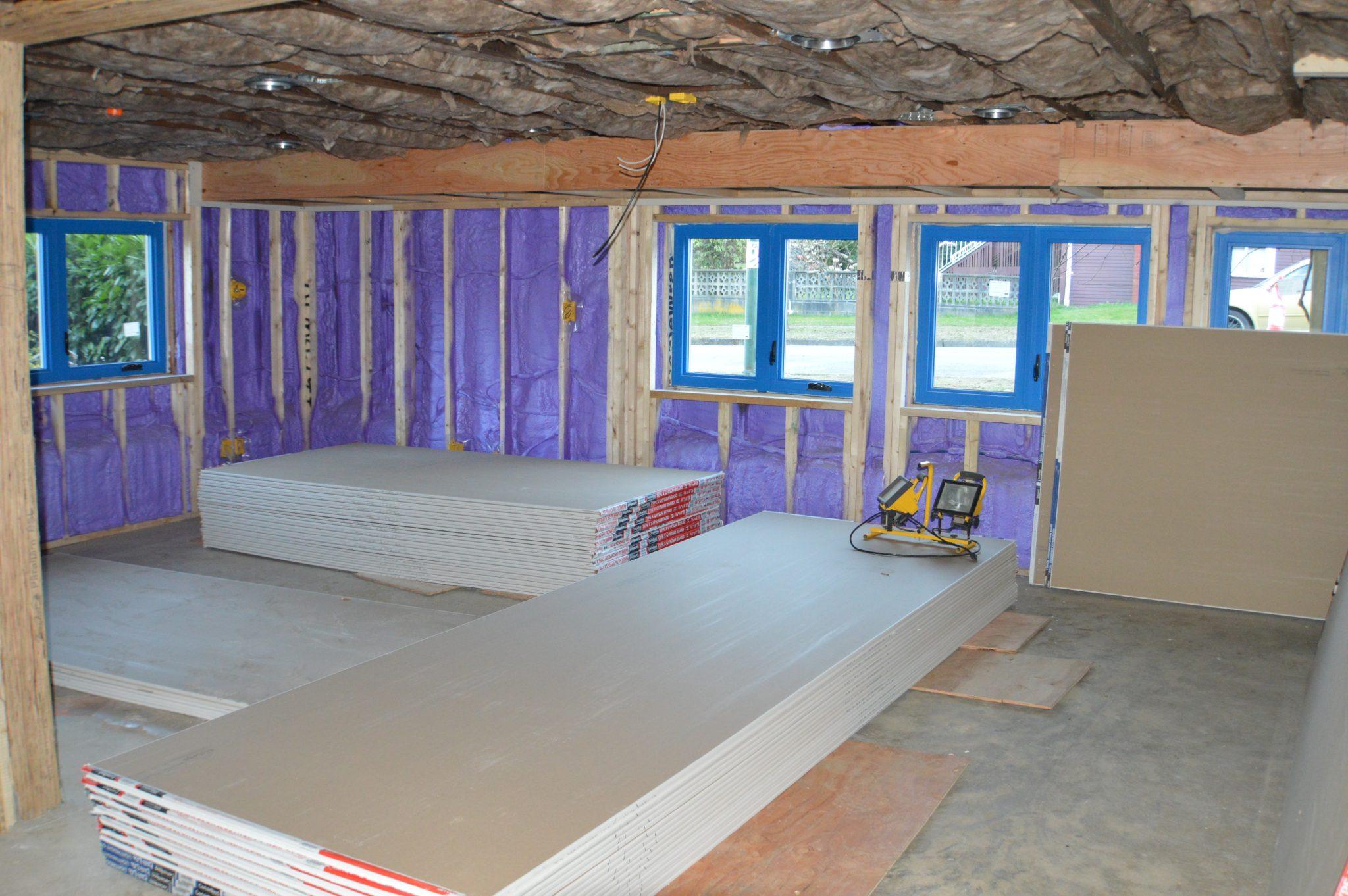 Construction Renovation foam insulation Vancouver